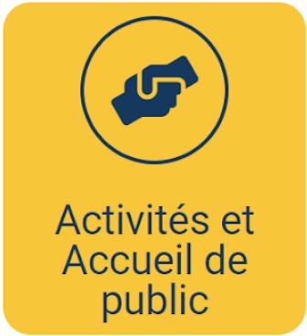 Mode d'emploi - Catégorie Activités et Accueil de public